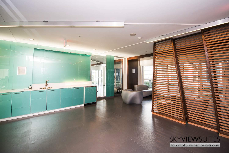 352 Front St. W., Toronto furnished rental lobby