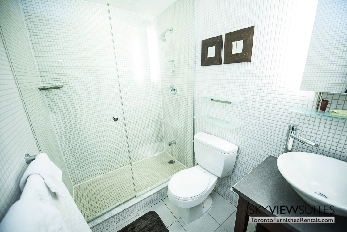 furnished suites toronto Colborne Street bathroom