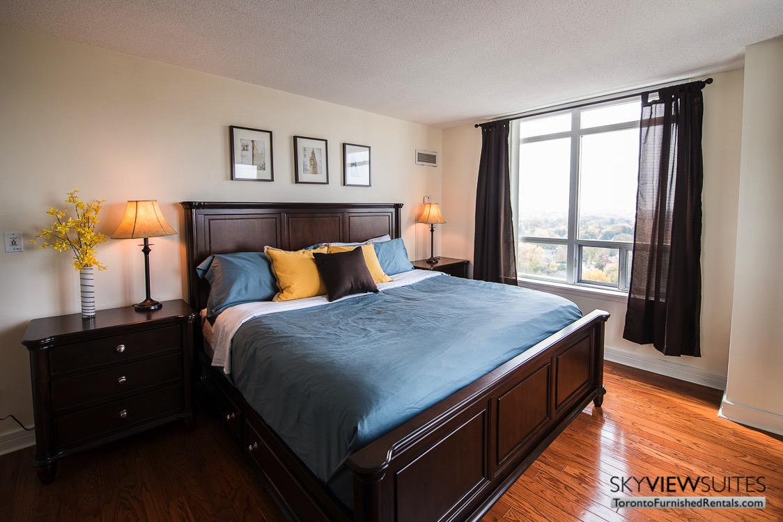 corporate rentals toronto Avondale bedroom