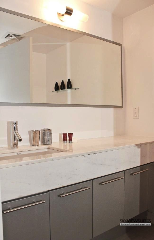 furnished apartments toronto boutique bathroom countertop