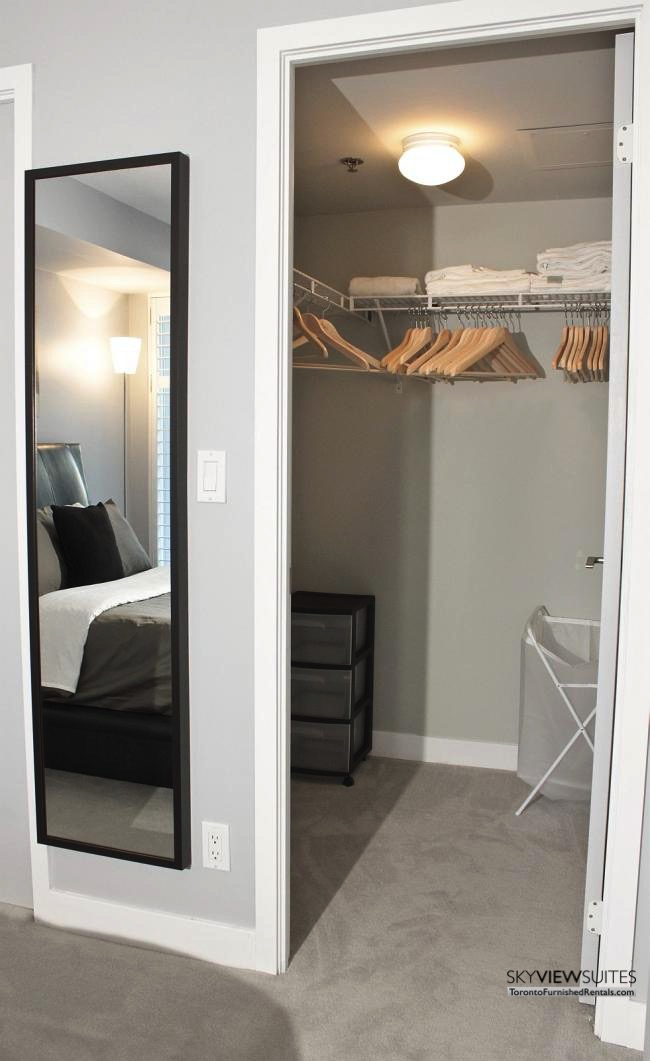 furnished apartments toronto portland walk-in closet