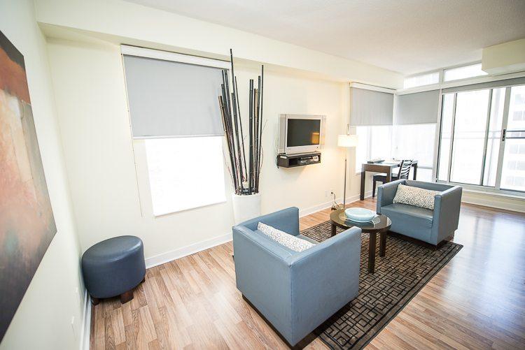 King and Yonge executive rentals toronto living room