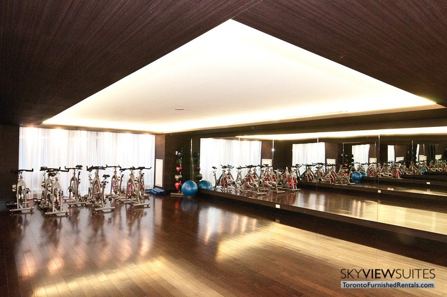 Festival Tower Toronto furnished rental fitness centre