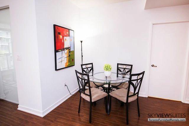 8 Telegram Mews serviced apartments toronto dining table