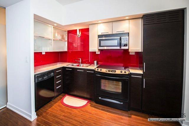 8 Telegram Mews serviced apartments toronto wooden dpor fridge