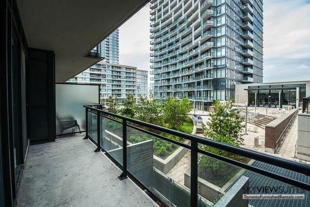 8 Telegram Mews serviced apartments toronto balcony view
