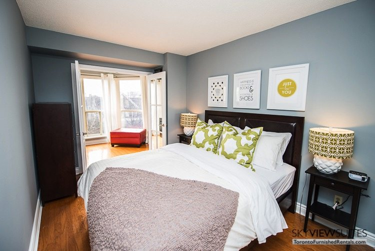 serviced apartments toronto marina del ray bedroom with view to adjoining room