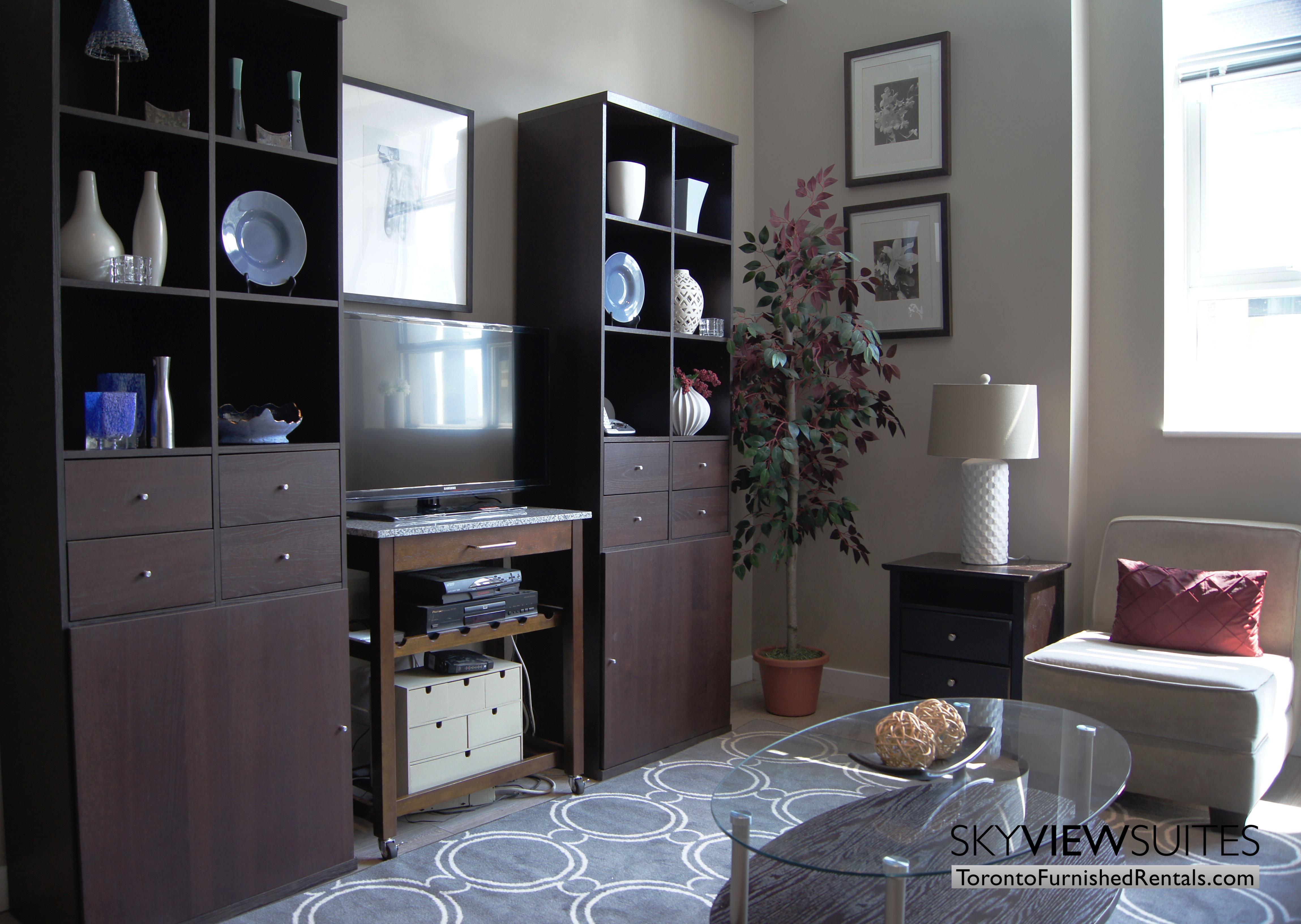 Church and Dundas toronto corporate housing living room