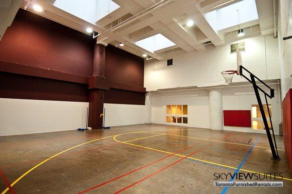 Church and Dundas toronto corporate housing basketball court