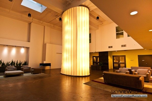 Church and Dundas toronto corporate housing lobby