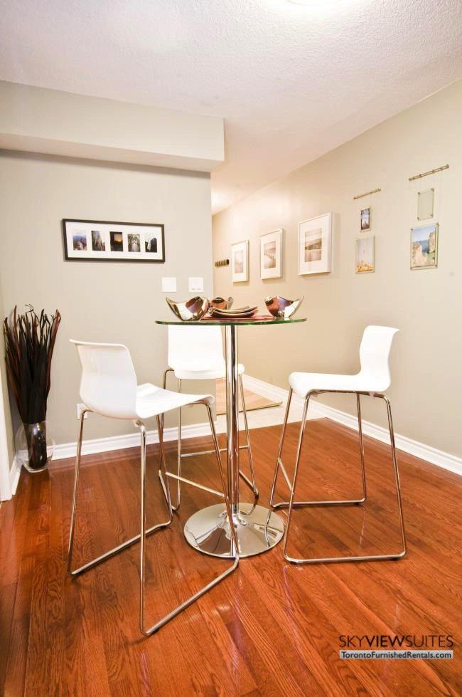 North York executive rentals Toronto table