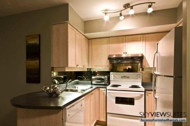 North York executive rentals Toronto kitchen