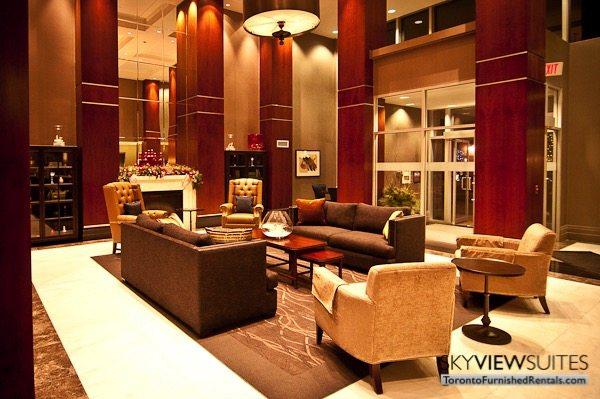 North York executive rentals Toronto lobby