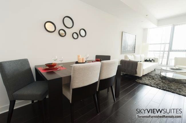 furnished apartments toronto portland table dining and living room