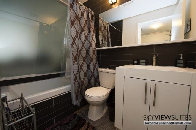 furnished apartments toronto portland bathroom