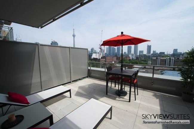 furnished apartments toronto portland patio terrace