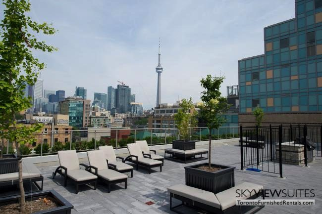 furnished apartments toronto portland rooftop lounge