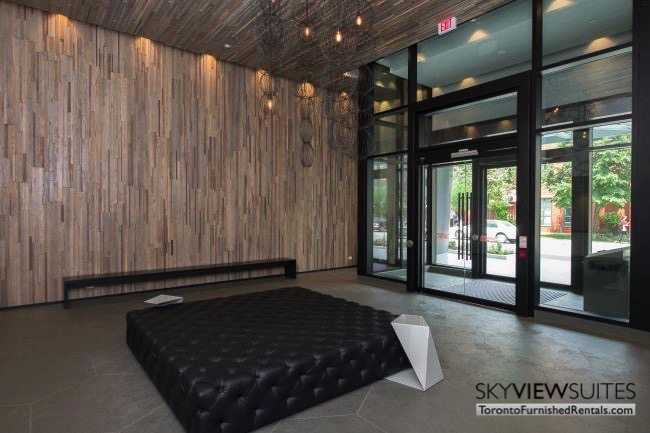 furnished apartments toronto portland lobby