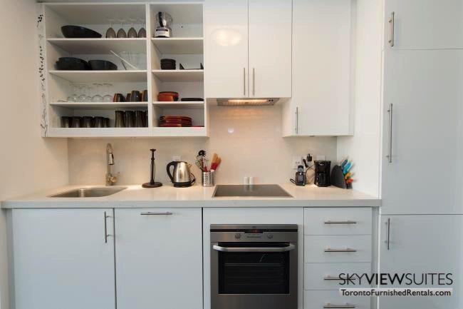furnished apartments toronto portland kitchen