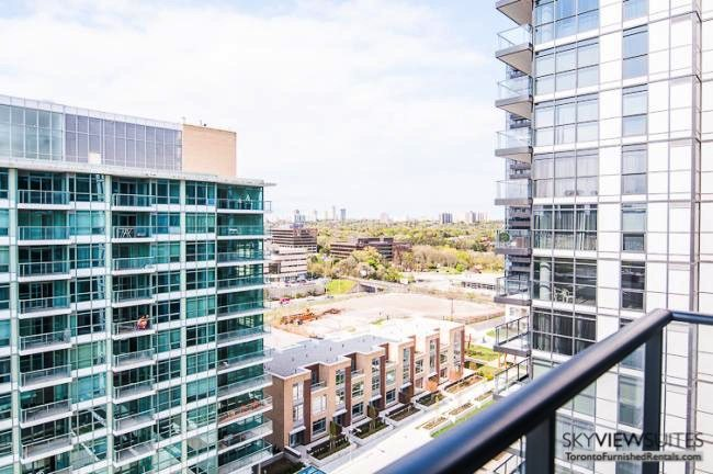 Leslie and Sheppard executive rentals toronto balcony