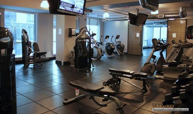 corporate housing toronto 1 Scott Street gym