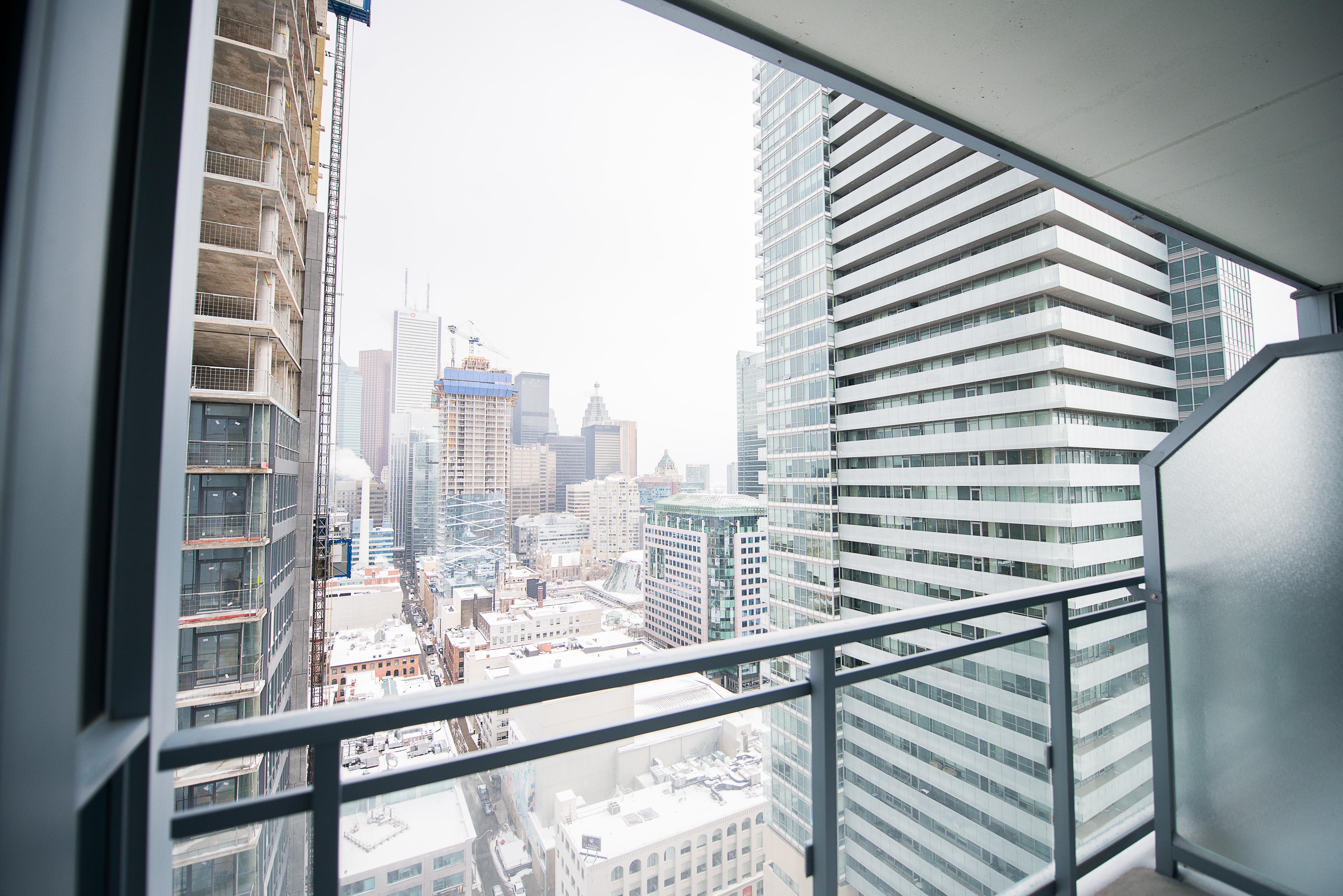 corporate rentals toronto king and john balcony