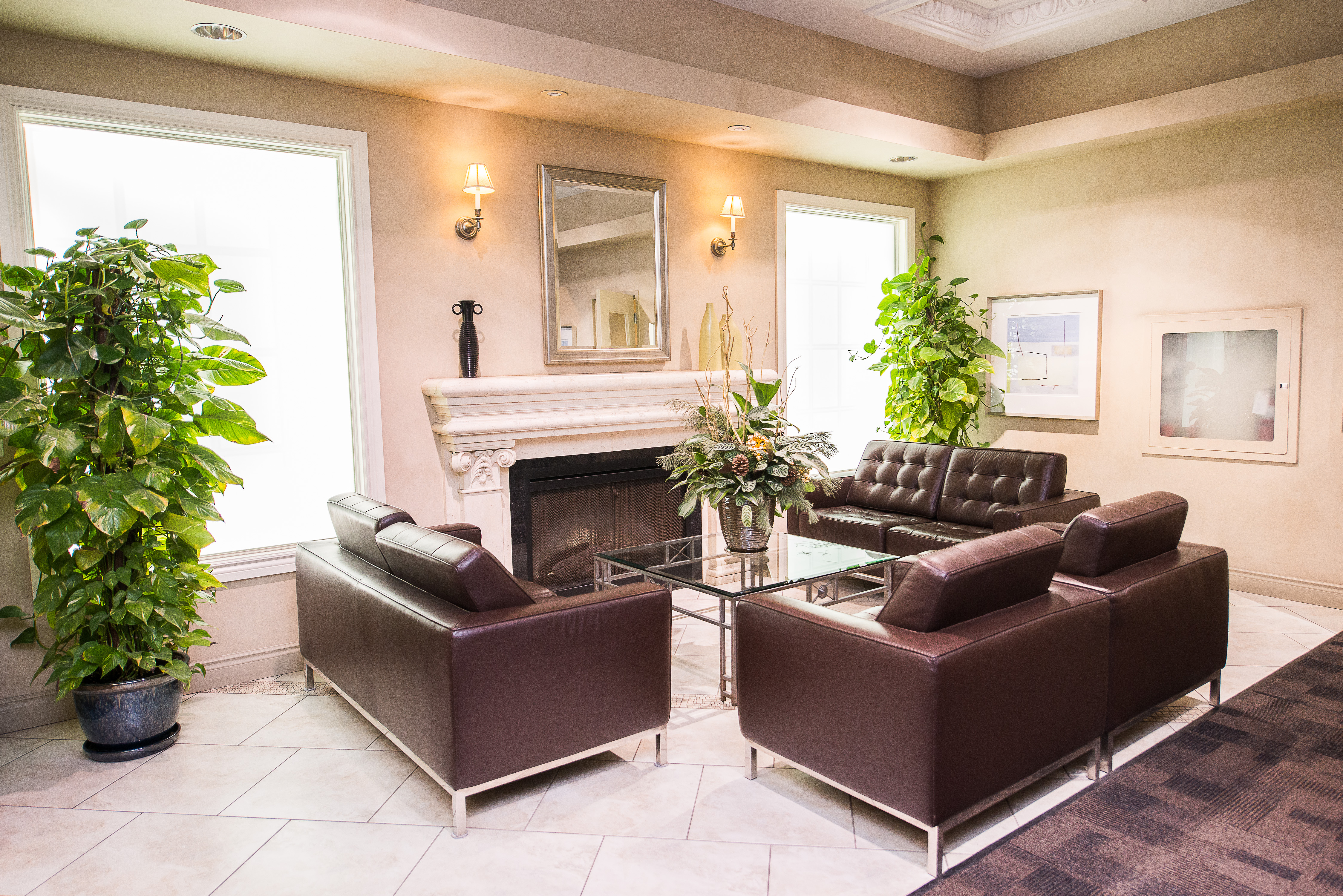 serviced apartments toronto financial district condo lobby