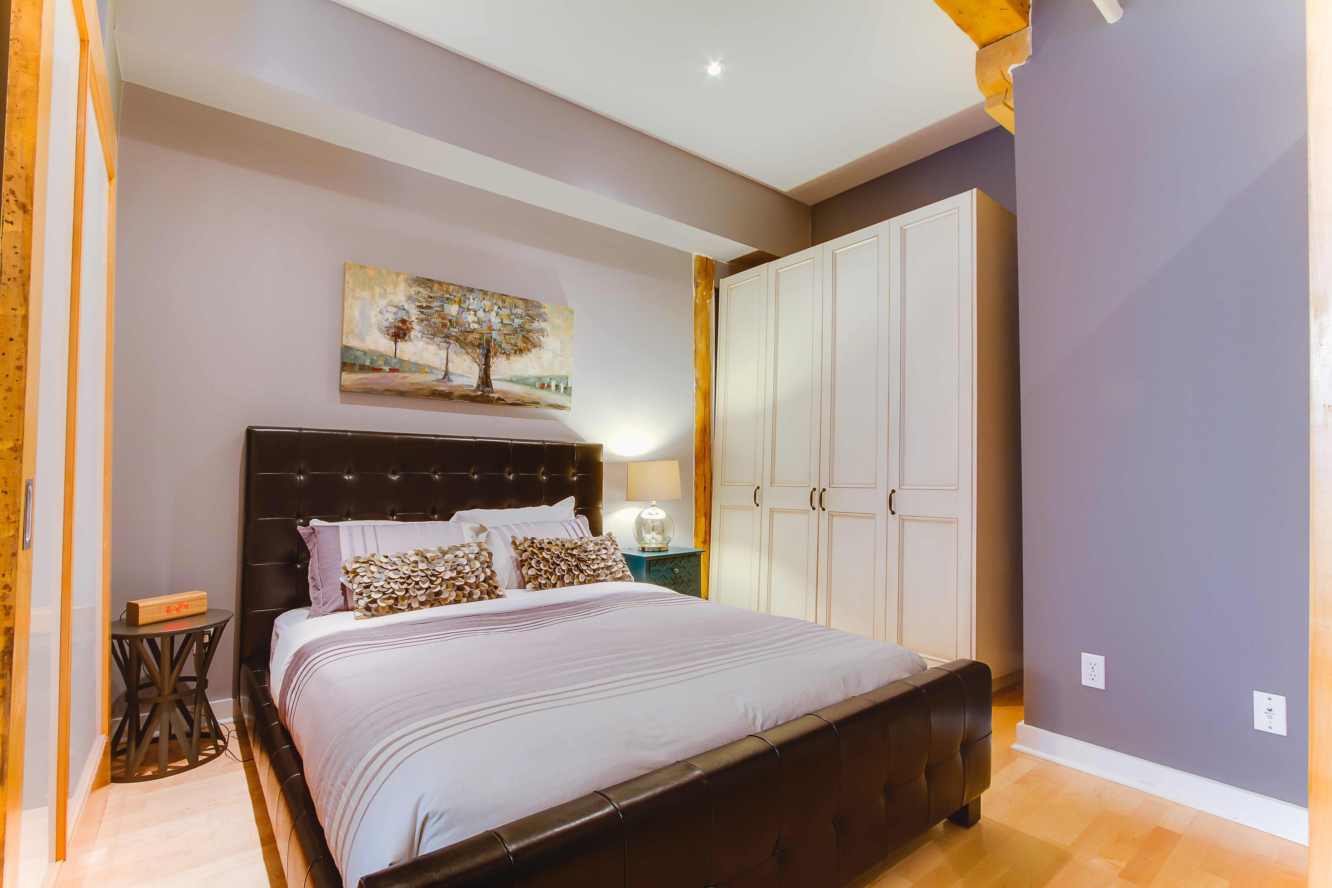 saint lawrence market furnished condo bedroom