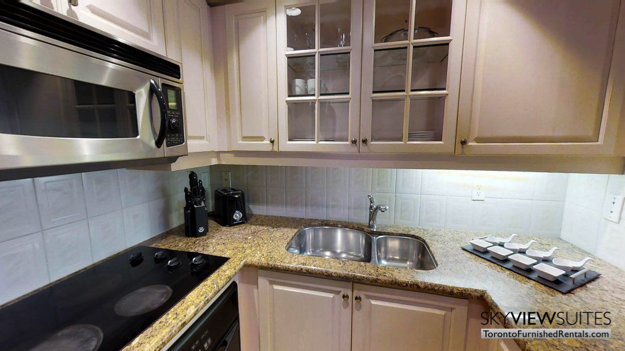 furnished suites toronto university plaza kitchen sink