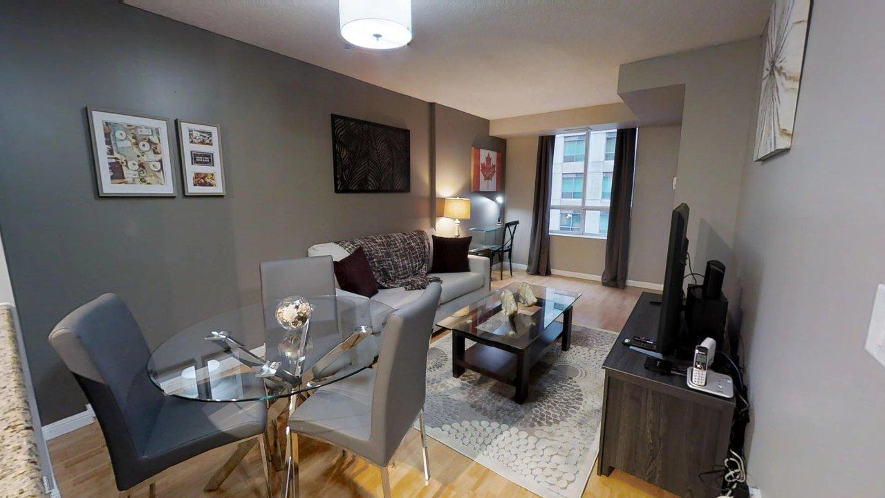 furnished suites toronto university plaza whole living room