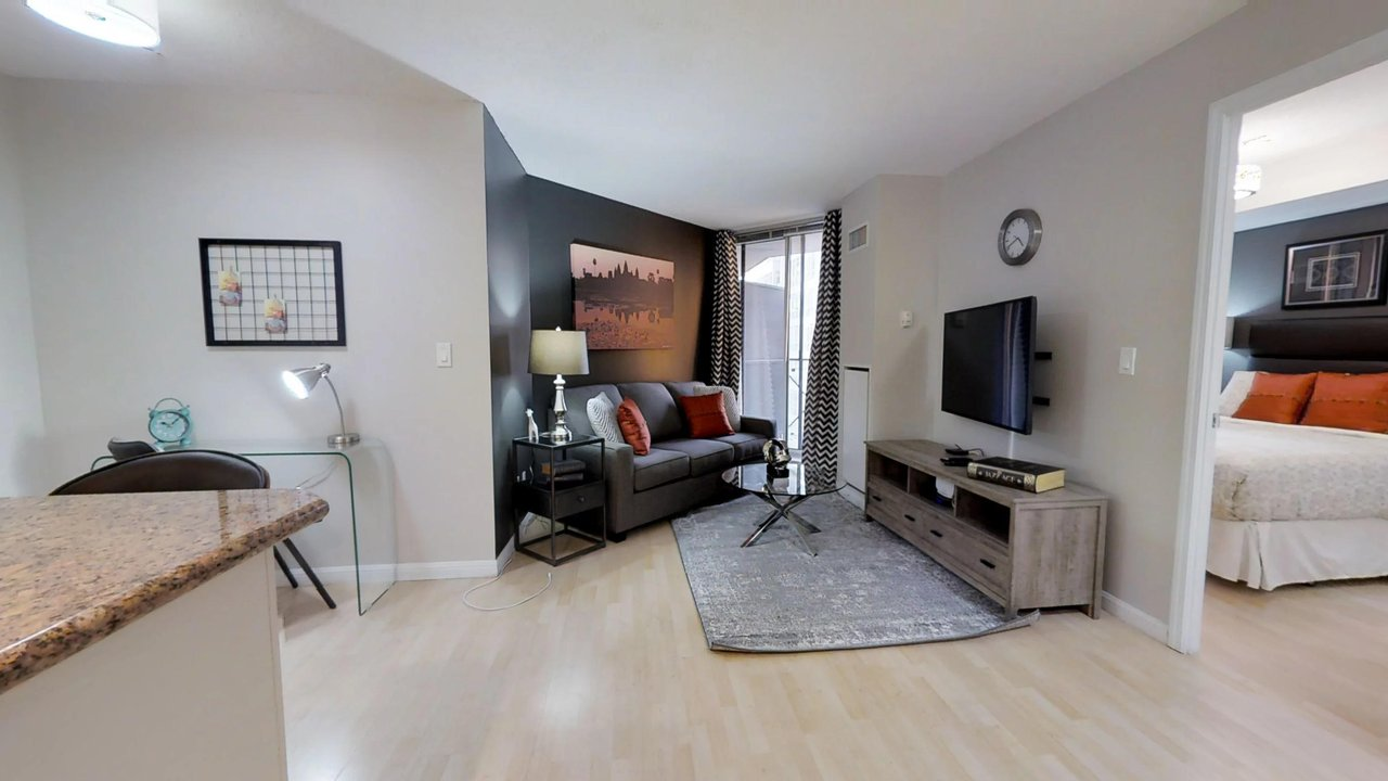 furnished apartments toronto university plaza living room and bedroom