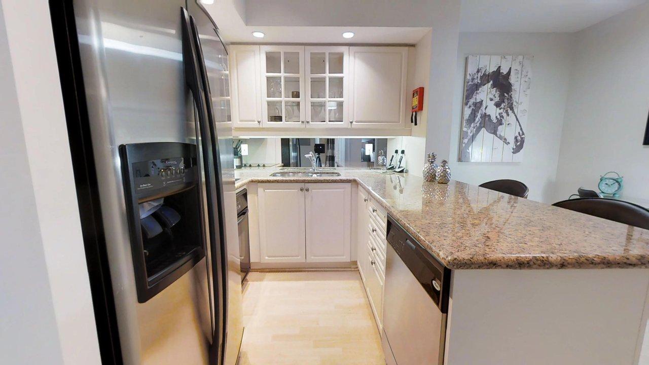 furnished apartments toronto university plaza kitchen with horse art