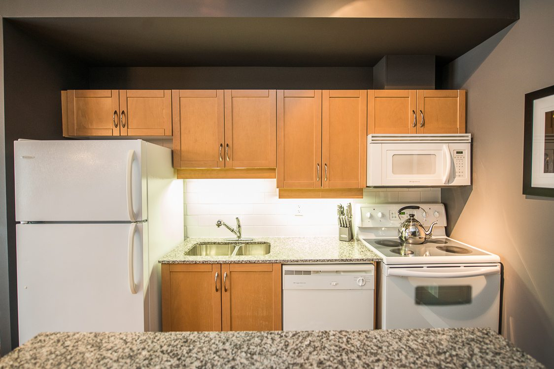 toronto furnished apartment kitchen opus B