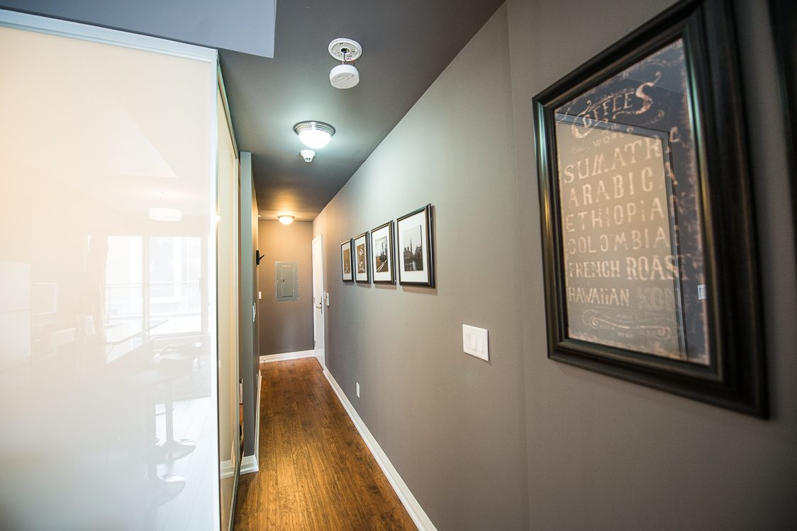 front hallway opus toronto furnished condo