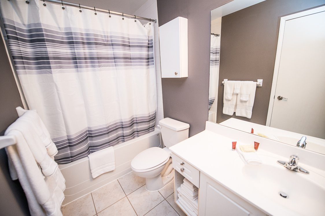 bathroom in toronto furnished apartment opus