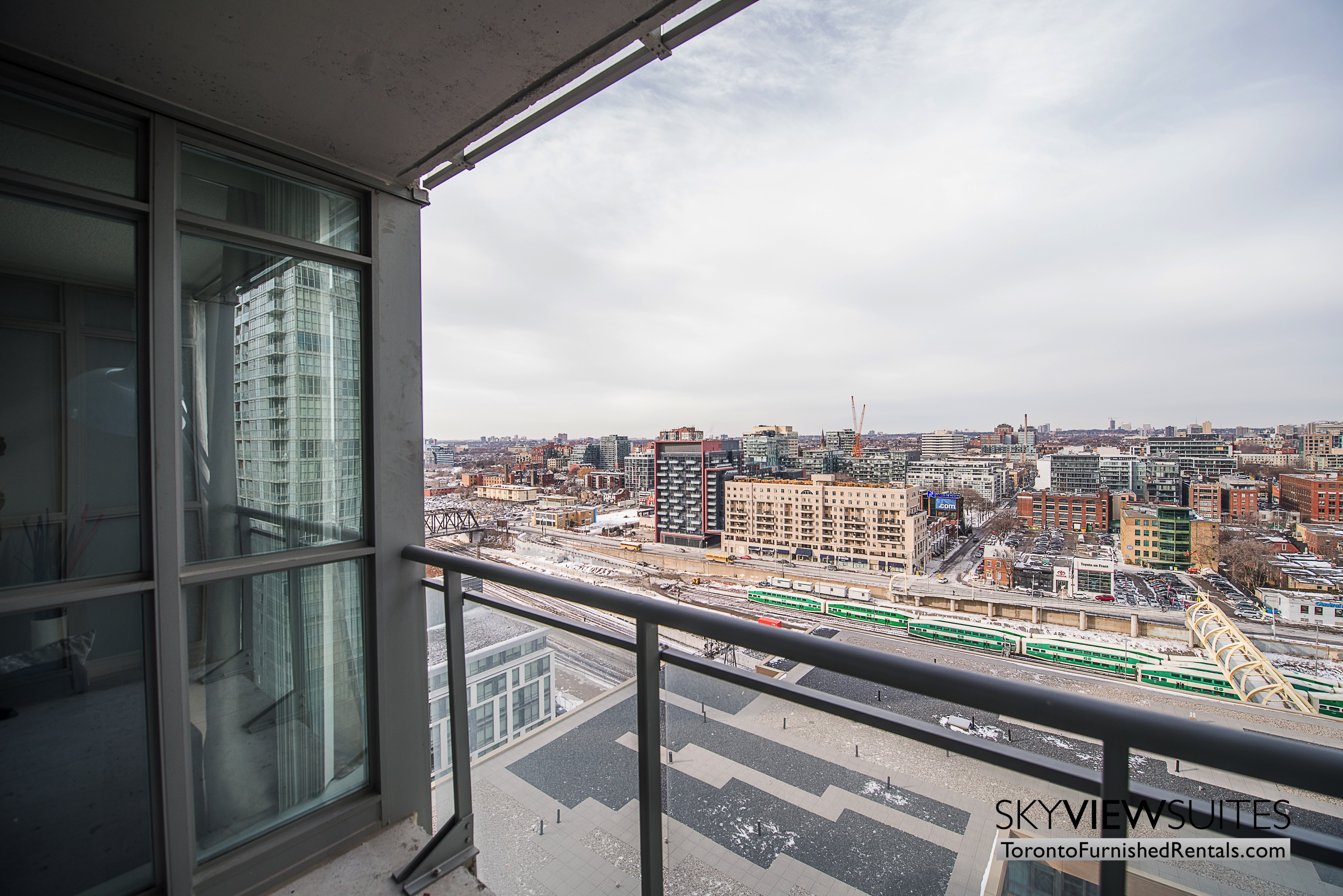 furnished apartments toronto parade view of the city