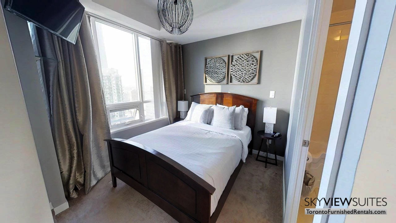 furnished rentals toronto Maple Leaf Square bedroom