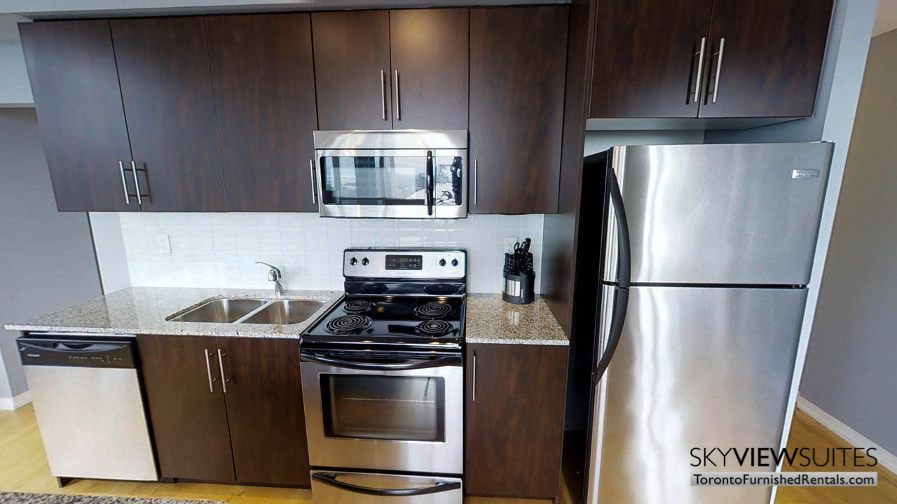 short term rentals Toronto Maple Leaf Square kitchen