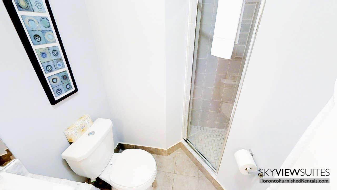 short term rentals Toronto Maple Leaf Square bathroom shower