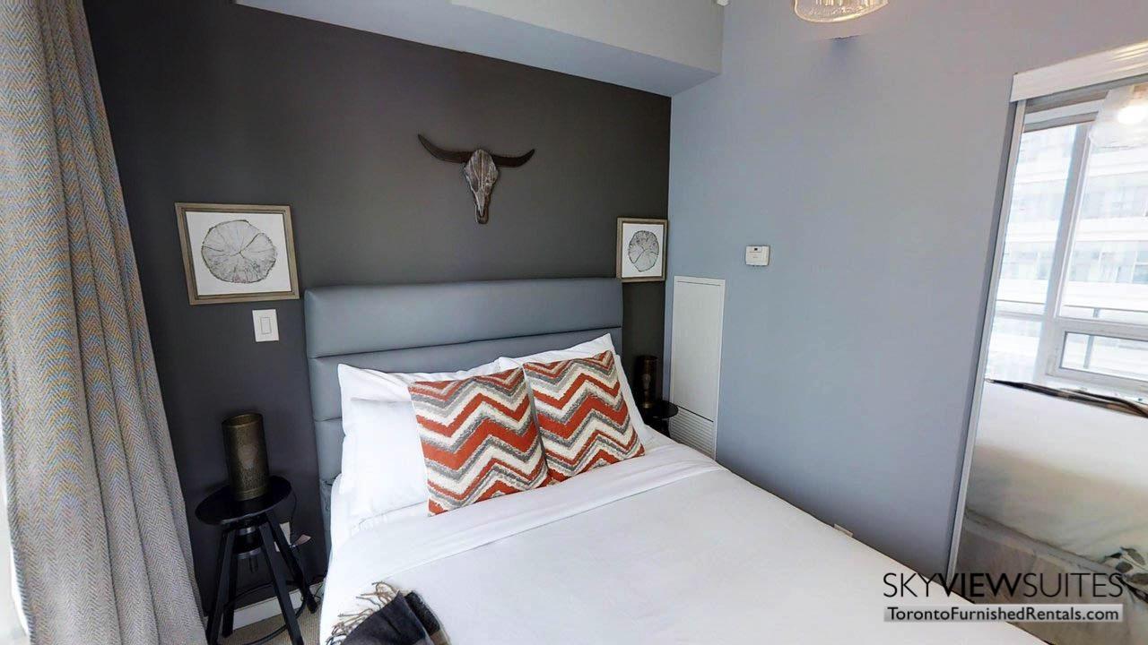 short term rentals Toronto Maple Leaf Square bedroom