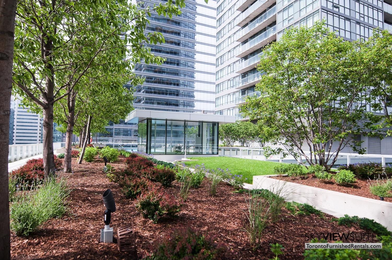 short term rentals Toronto Maple Leaf Square rooftop garden