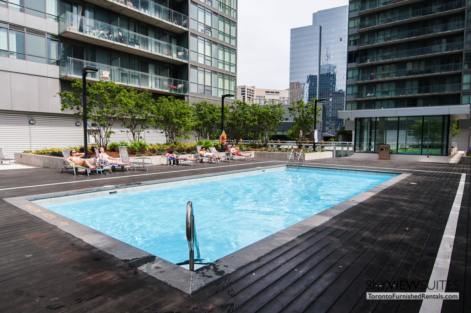 short term rentals Toronto Maple Leaf Square rooftop pool