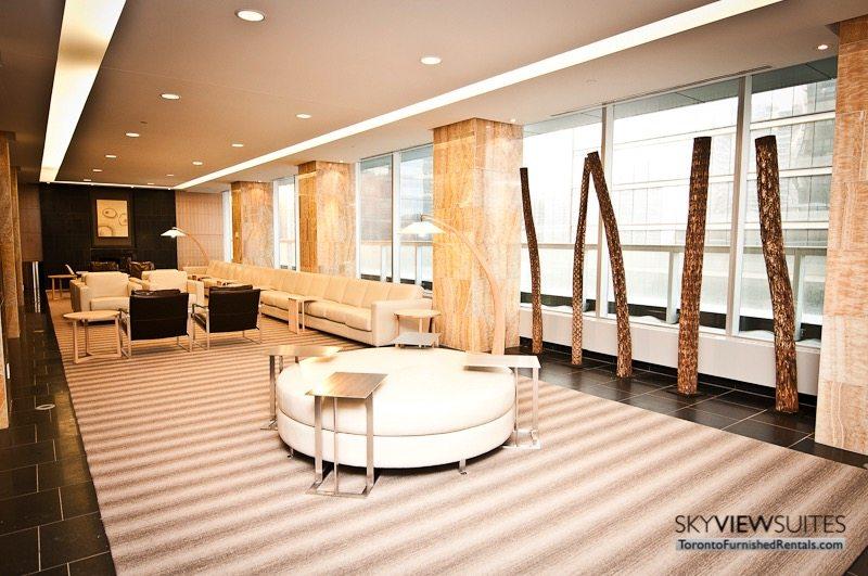 short term rentals Toronto Maple Leaf Square 9th floor lobby