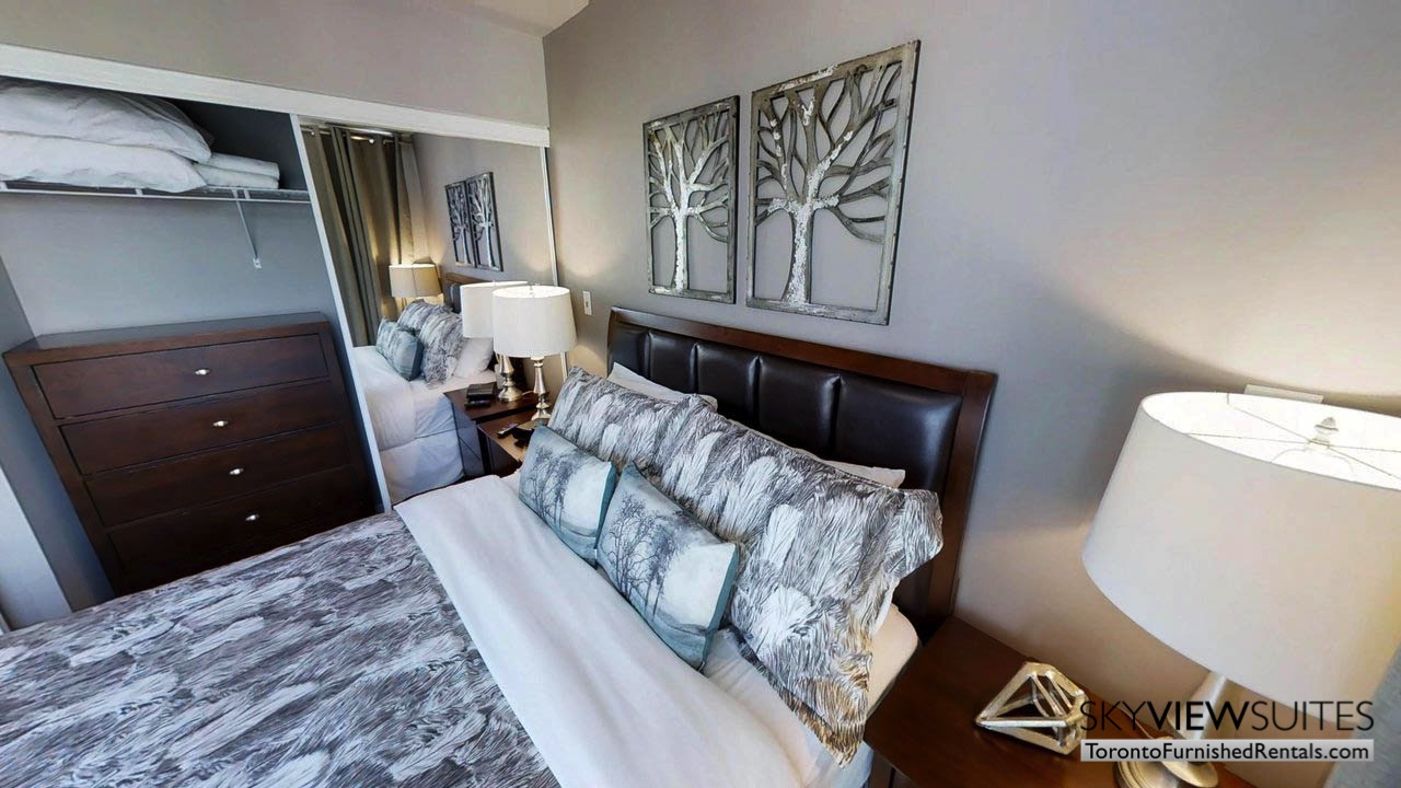 furnished apartments toronto Maple Leaf Square bedroom