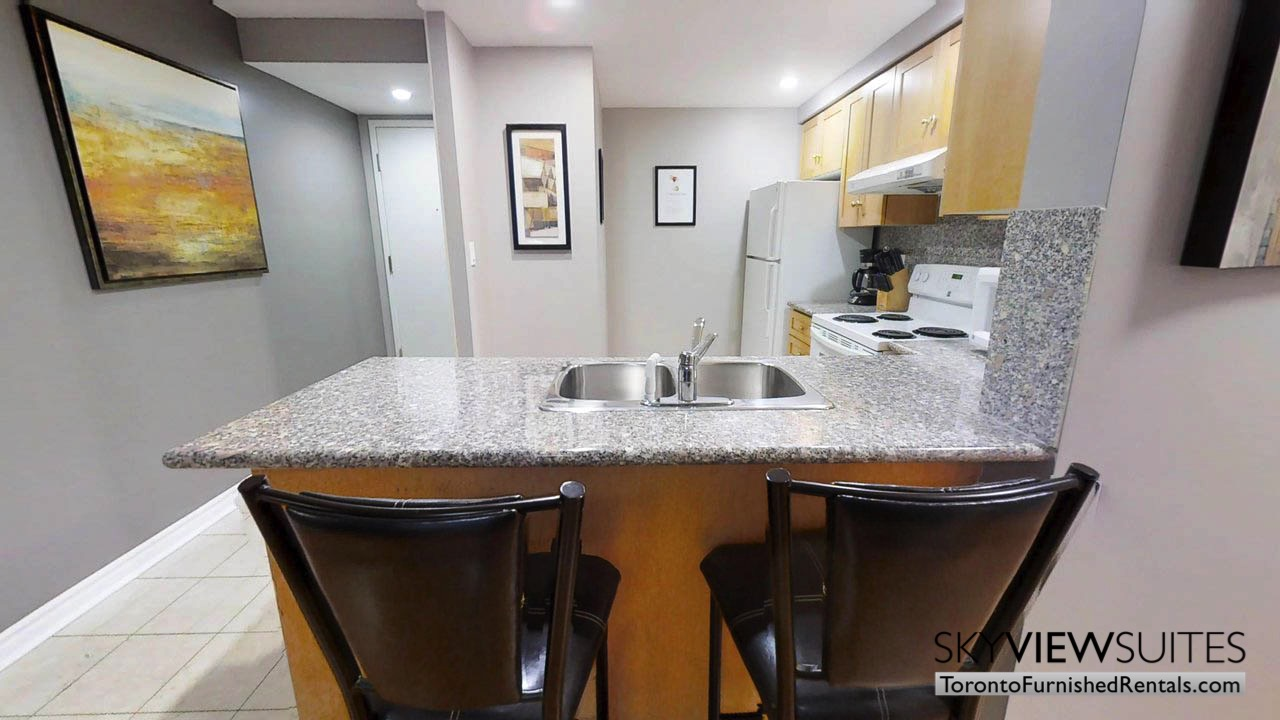 furnished rentals toronto simcoe and richmond kitchen