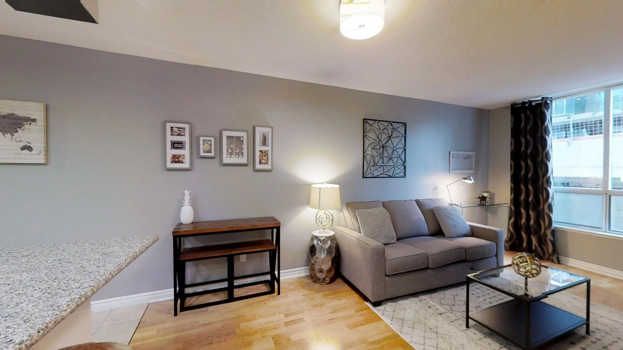 furnished apartments toronto QWEST living room