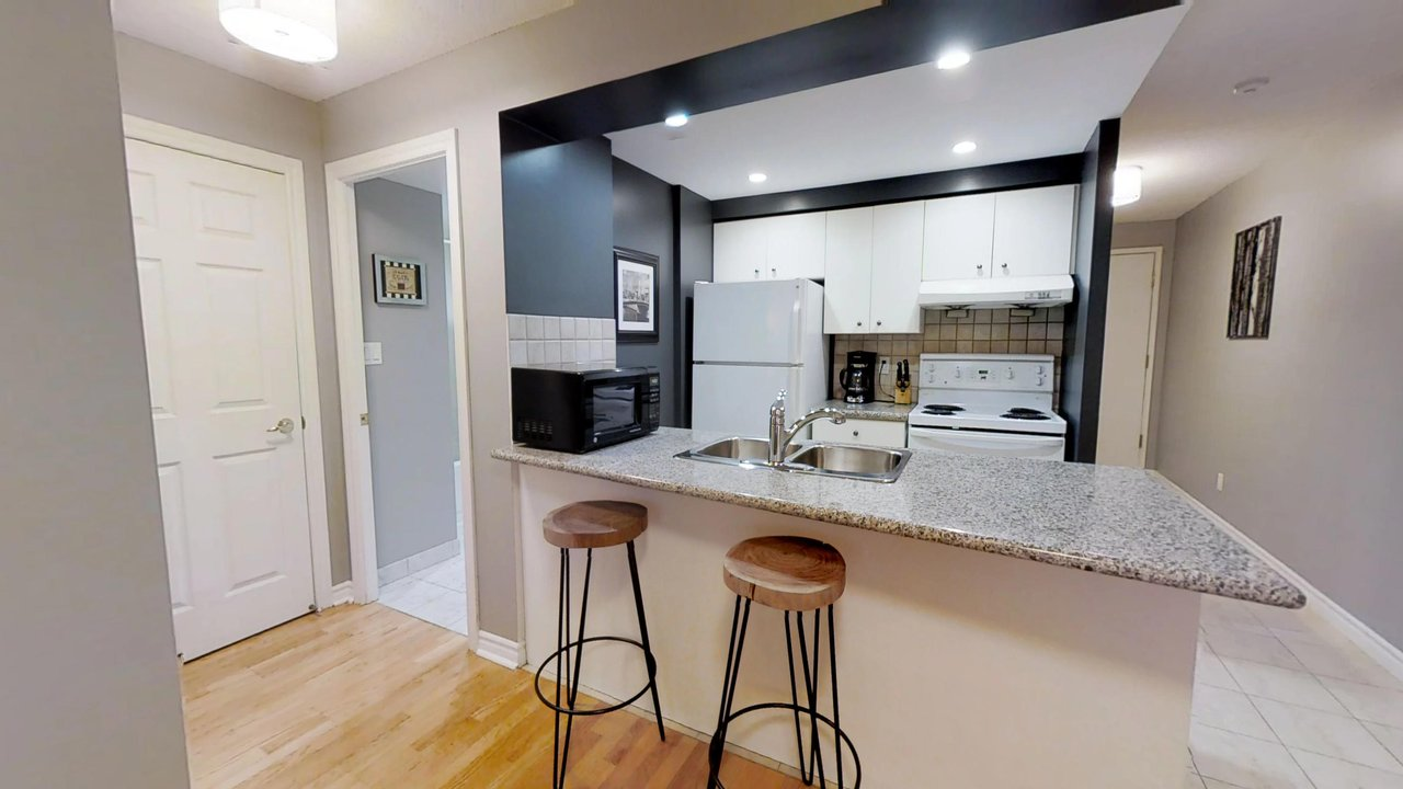 furnished apartments toronto QWEST kitchen