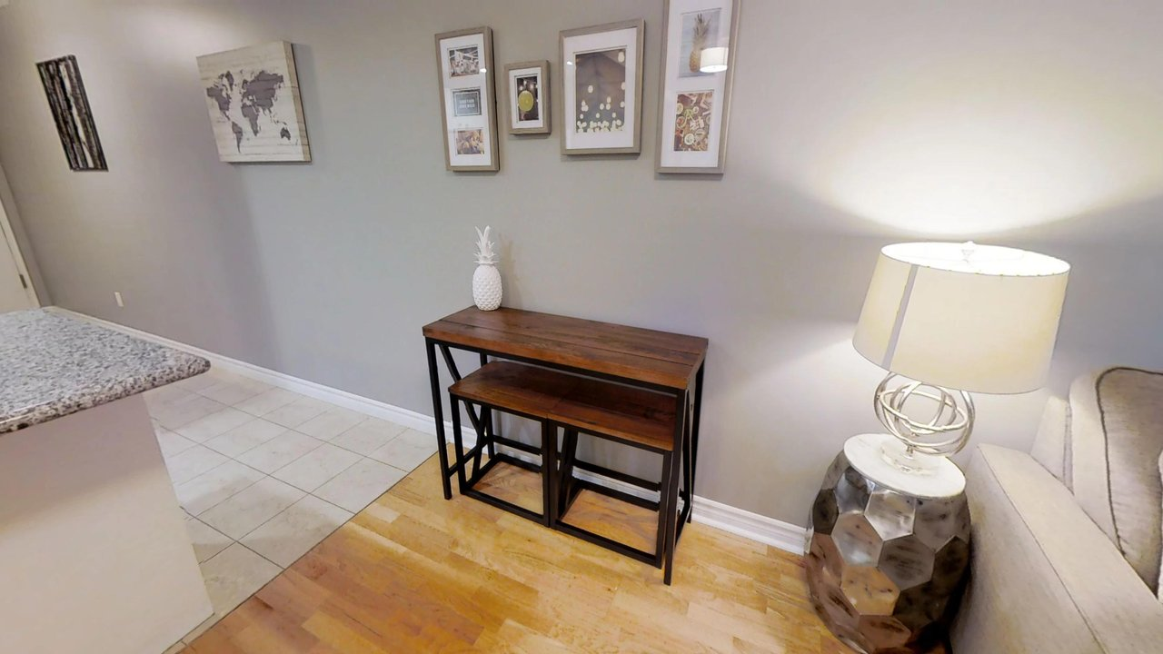 furnished apartments toronto QWEST living room table