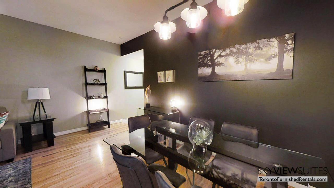 short term rentals toronto qwest living room with tree art