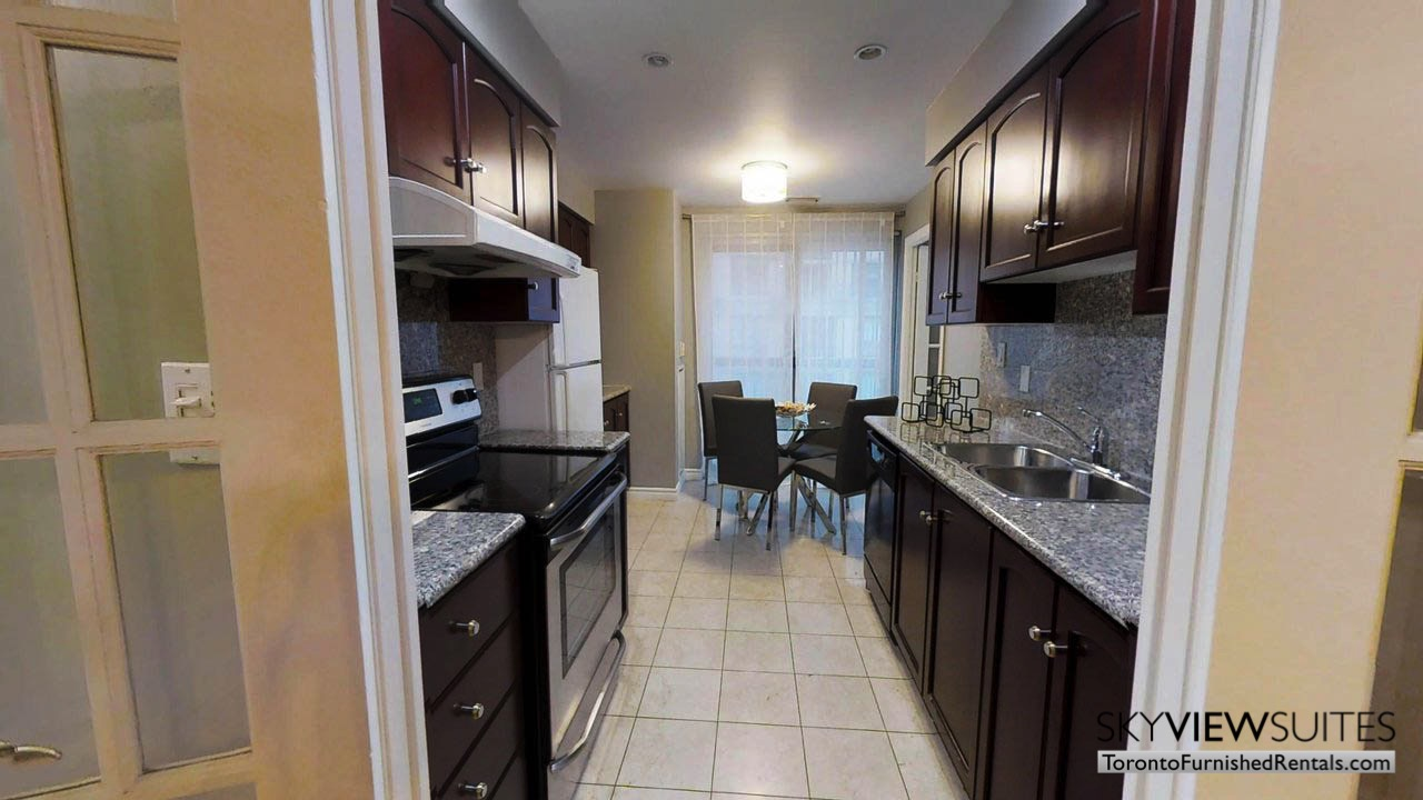 short term rentals toronto qwest kitchen with dining room table